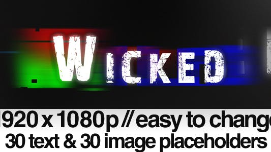 Wicked - ( Bad TV Signal Noise )