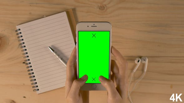Thumbnail for Chatting On Smartphone With Green Screen