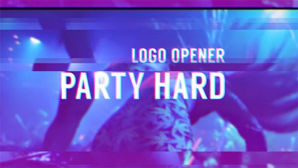 Thumbnail for Party Hard - Glitch Logo Opener