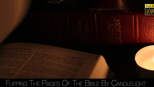 Thumbnail for Flipping The Pages Of The Bible By Candlelight 2