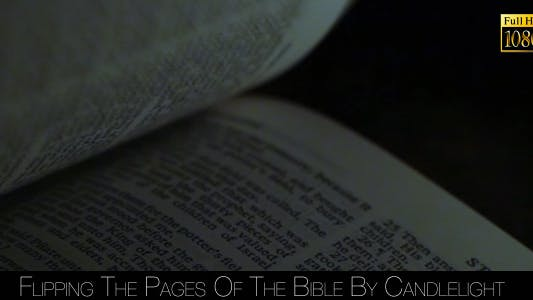Thumbnail for Flipping The Pages Of The Bible By Candlelight 3