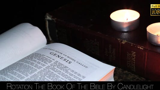 Thumbnail for Rotation The Book Of The Bible By Candlelight