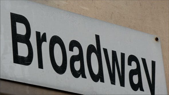 A 1a Broadway Sign from the Wall