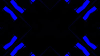 Blue Neon Disco Kaleidoscope