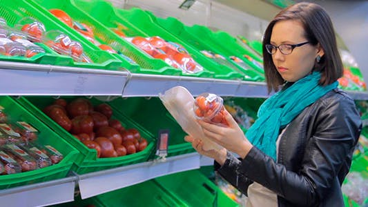 Thumbnail for The Girl At The Store Chooses Tomatoes