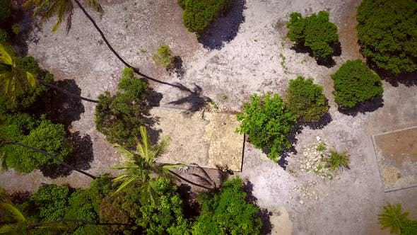 Thumbnail for Aerial view of droner taking off in the tropics.