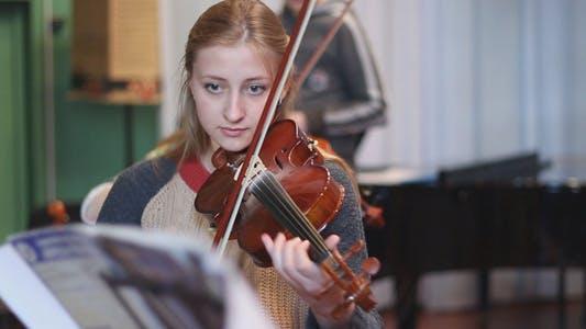 Thumbnail for Beautiful Girl Playing the Violin