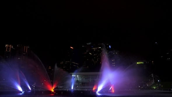 Thumbnail for Beautiful Show Of Fountains In Kuala-Lumpur City
