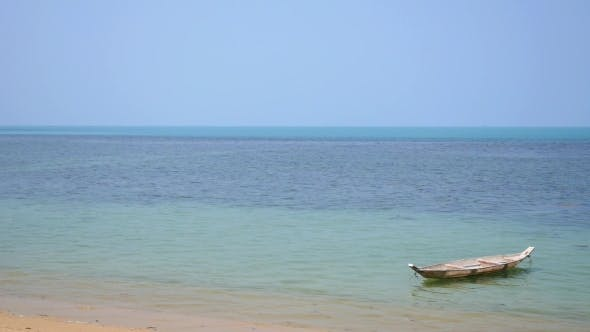 Thumbnail for Beautiful Beach And Tropical Sea With Small Boat