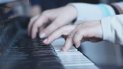 Musician Plays the Piano