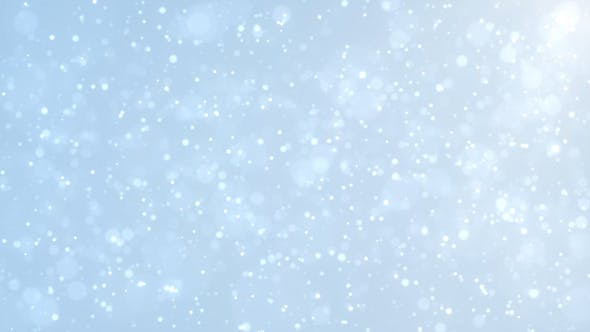 Thumbnail for Blue Particles Bokeh Background