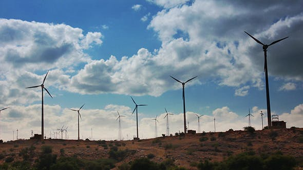 Thumbnail for Wind Farm - Turning Windmills