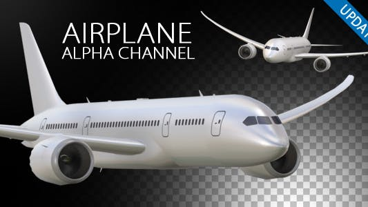 Thumbnail for Airplane On Alpha Channel V2