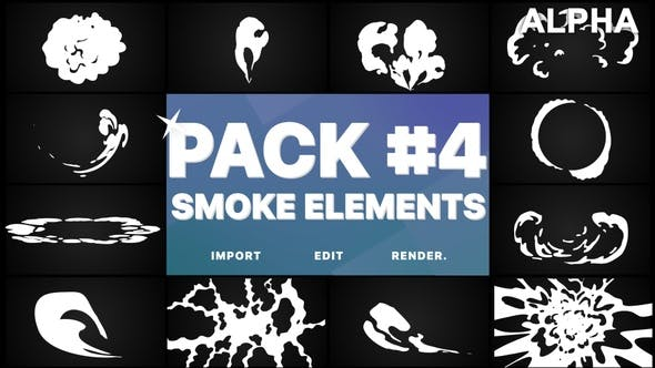 Thumbnail for Smoke Elements Pack 04 | Motion Graphics Pack