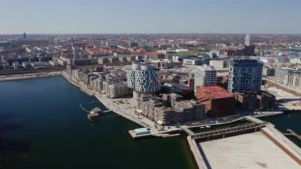 Cover Image for Drone Flight Over Nordhavn Harbor