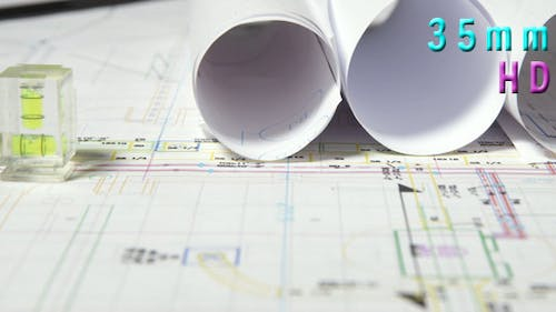 Rolls of Architectural Blueprints
