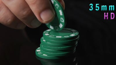 Hands Fiddling With Poker Chips 20
