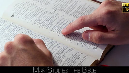 Thumbnail for Man Studies The Bible