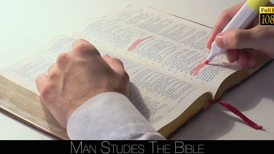 Thumbnail for Man Studies The Bible 2