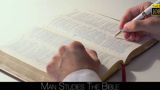 Thumbnail for Man Studies The Bible 4