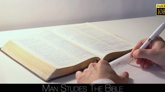 Thumbnail for Man Studies The Bible 5