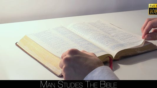 Thumbnail for Man Studies The Bible 6