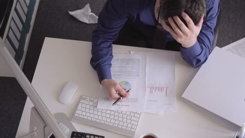 Stress at  Working with the Documents