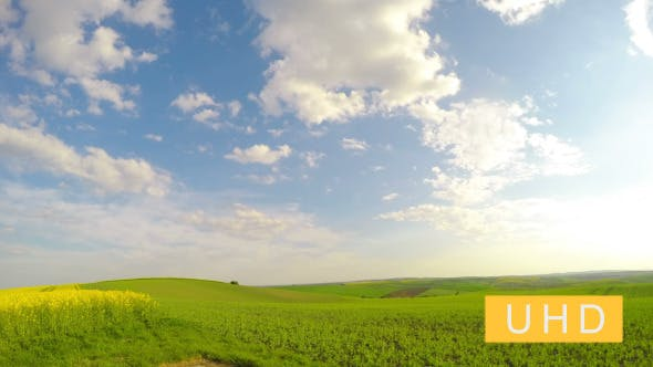 Thumbnail for Sun and Clouds over Fields