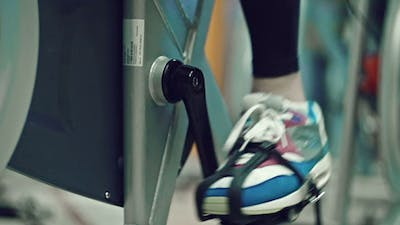 Cyclist at the Gym