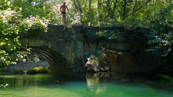 Thumbnail for Man Jumping Into The River