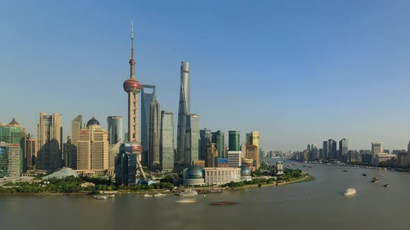 Thumbnail for Time Lapse Of The Shanghai China Skyline