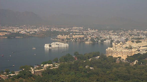 Thumbnail for Lake And Palaces In Udaipur India