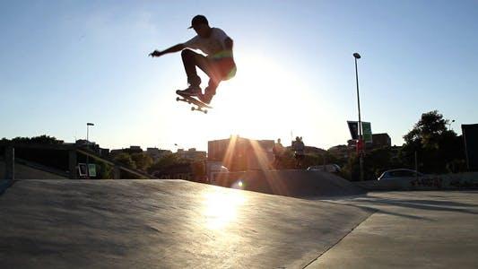 Thumbnail for Skateboarding At Sunset