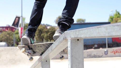 Skateboarder Grinding