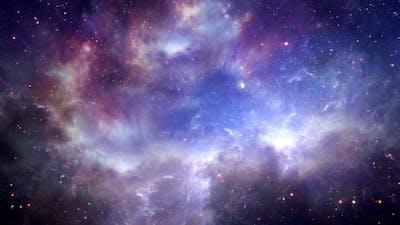 Space Cosmic Nebulae Flight