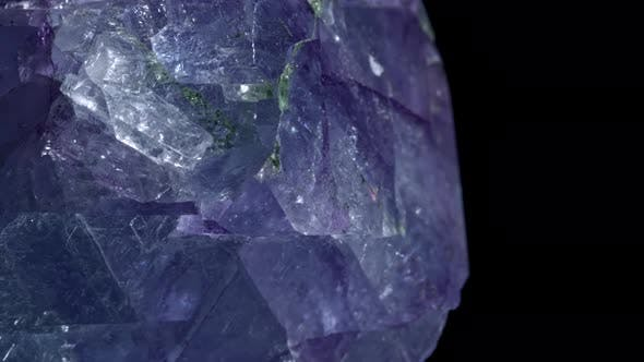 Thumbnail for Mineral Celestine. The Texture of the Mineral. Macro Shooting of Natural Gemstone. The Raw Mineral