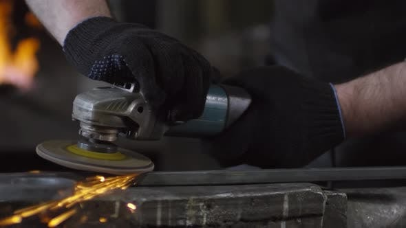 Thumbnail for Metal Grinding with Electrical Sander