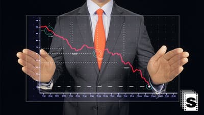 Chart Falling Down