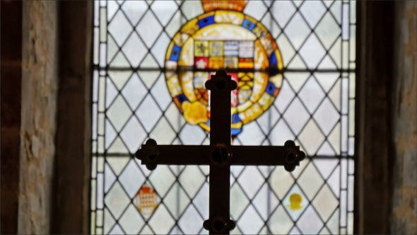 Thumbnail for A Big Crucifix on the Altar Inside the Tower
