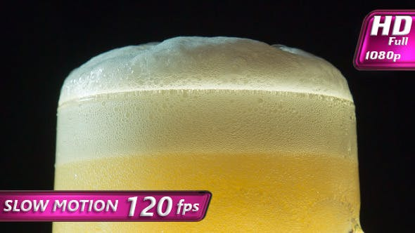 Froth on a Mug of Beer