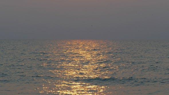 Sunbeam Reflection On Sea