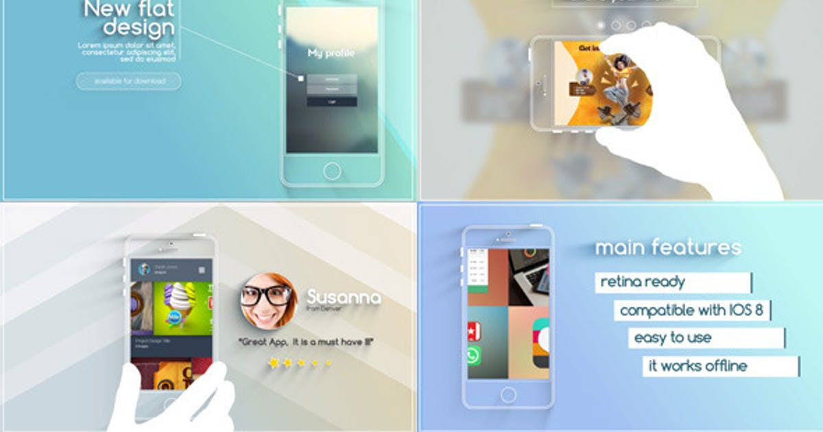 Download Flat and Modern App Explainer by marcobelli
