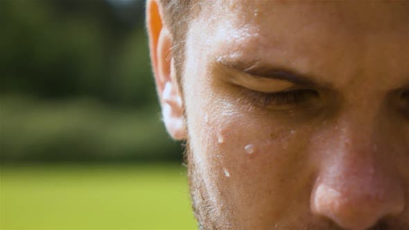 Thumbnail for Sweaty Man Outdoor in Park