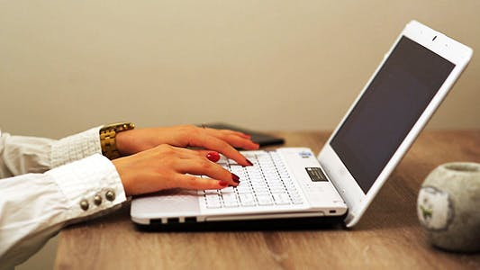 Thumbnail for Business Woman Typing on a Computer