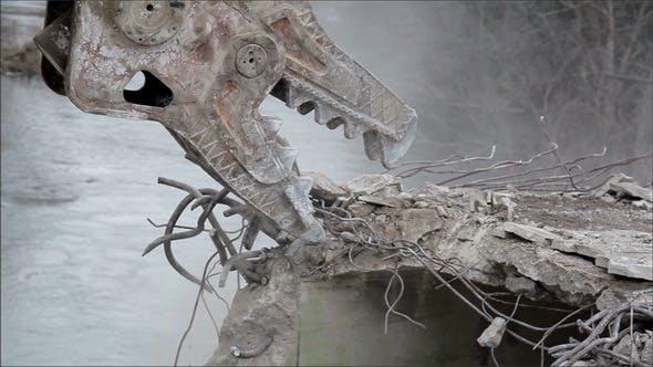 Demolition Equipment Crunching the Concrete