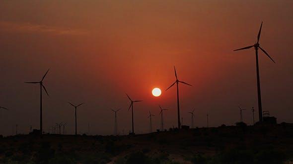 Thumbnail for Wind Farm - Turning Windmills