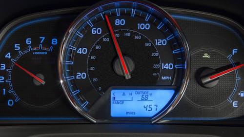 Car Dashboard. Sports Acceleration