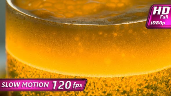 Thumbnail for Foam and Bubbles in a Glass of Beer