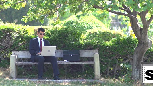 Thumbnail for Businessman Working Outdoor
