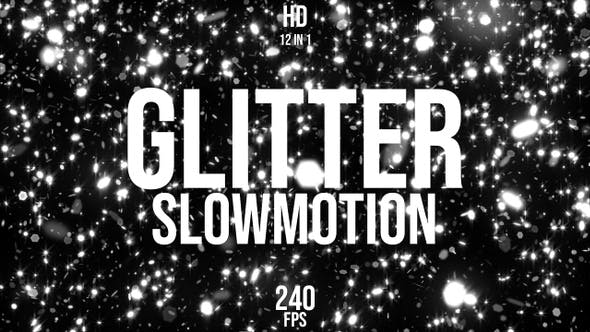 Thumbnail for Black White Glitter Slow Motion